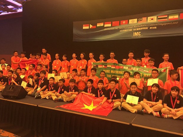 Vietnam wins eight gold medals at int'l maths competition hinh anh 1