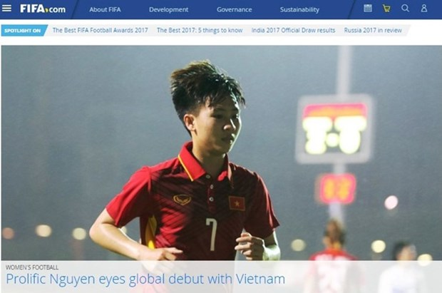 FIFA praises Vietnamese female midfielder hinh anh 1