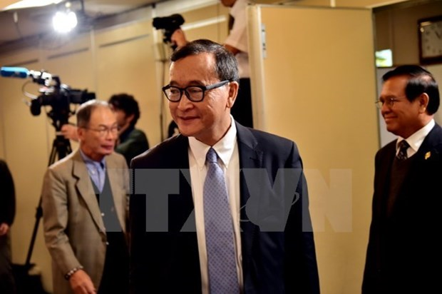 Cambodian court upholds sentence for Sam Rainsy hinh anh 1