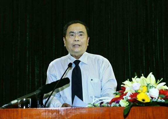 Vietnam Fatherland Front leader meets top legislator of Laos hinh anh 1