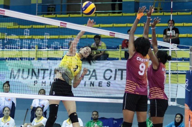 VN women's volleyball team beat Sri Lanka hinh anh 1