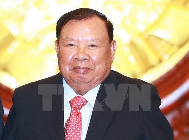 Congratulations to top Lao leader on 80th birthday hinh anh 1