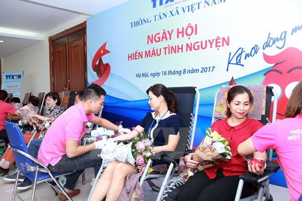 Vietnam News Agency launches blood donation festival hinh anh 1