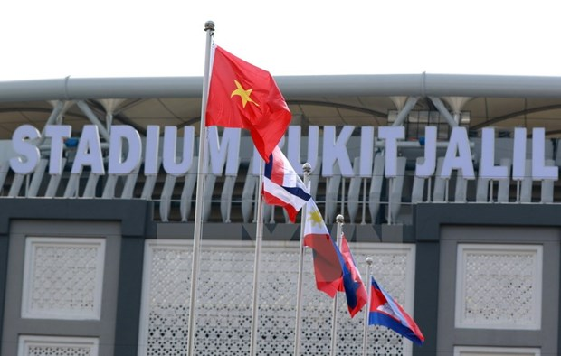 Vietnamese flag flies at SEA Games 29 hinh anh 1