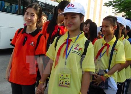Children exchanges promote Vietnam – Laos friendship hinh anh 1