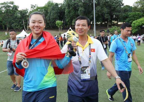 SEA Games 29: Indonesia tops medal tally hinh anh 1