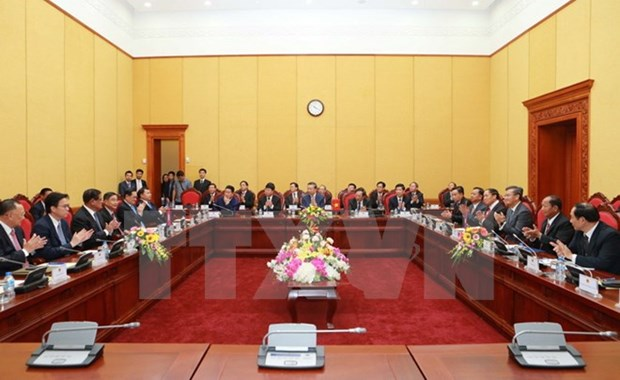 VN, Laos, Cambodia boost security cooperation hinh anh 1