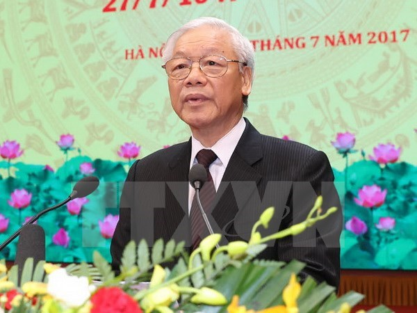 Party chief's Indonesia visit to tighten bilateral ties hinh anh 1