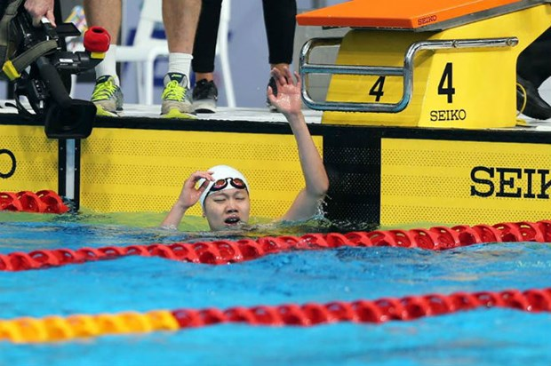 SEA Games 29: Swimmer Anh Vien grabs more gold for Vietnam hinh anh 1