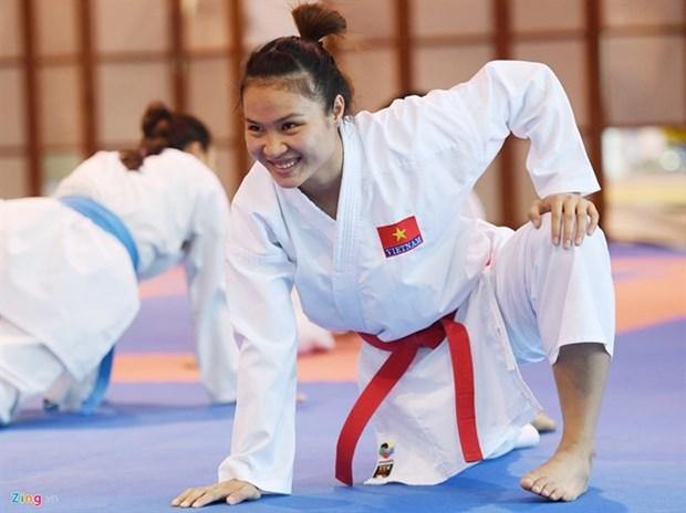 Karate athletes seek gold medals at SEA Games 29 hinh anh 1