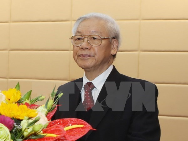 Party General Secretary leaves for Indonesia, Myanmar visit hinh anh 1
