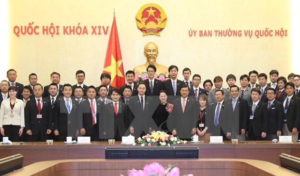 Top legislator welcomes young Japanese parliamentarians hinh anh 1