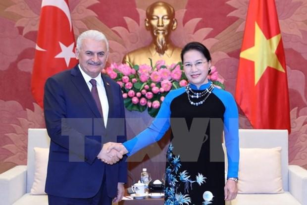 Top legislator welcomes visit of Turkish Prime Minister hinh anh 1