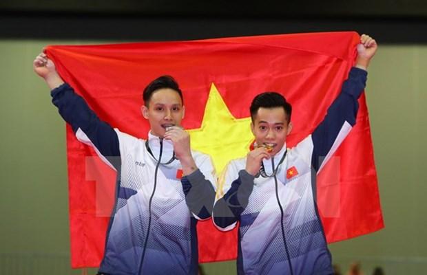 SEA Games 29: Vietnam wins more medals in gymnastics hinh anh 1
