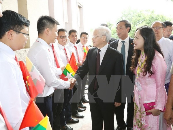 Party chief begins State visit to Myanmar hinh anh 1