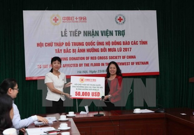 China's Red Cross supports flood-affected northern localities hinh anh 1
