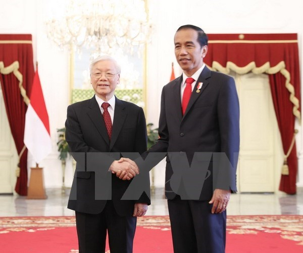 Party leader thanks Indonesian President hinh anh 1