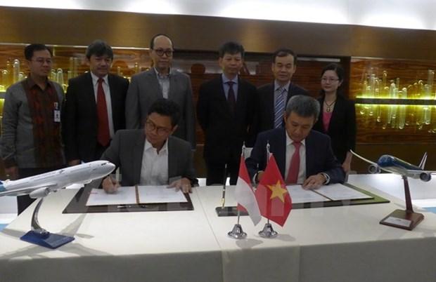 Vietnam Airlines, Garuda Indonesia boost strategic cooperation hinh anh 1