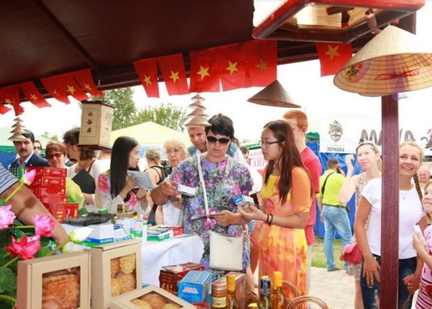 Vietnamese products showcased in Ukrainian trade fair hinh anh 1