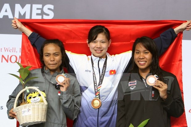 SEA Games 29: Vietnam remains second in medal table hinh anh 1