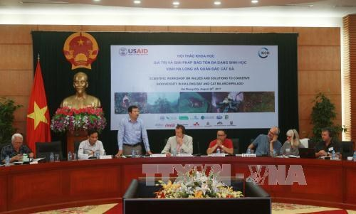 Workshop seeks to conserve biodiversity of Ha Long Bay, Cat Ba archipelago hinh anh 1