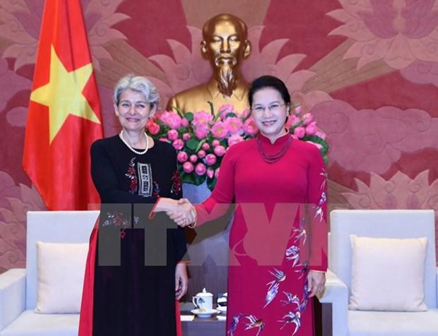 Top legislator welcomes UNESCO leader hinh anh 1