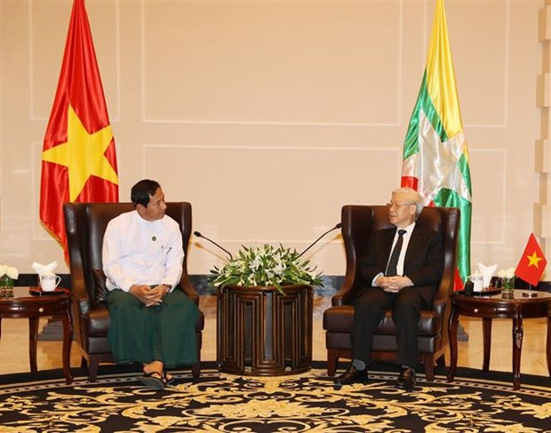 Party chief values role of Myanmar Union Solidarity Development Party hinh anh 1