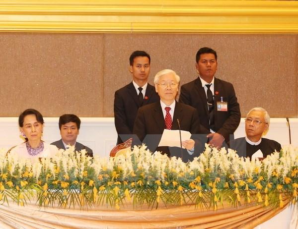 Joint statement on Vietnam-Myanmar comprehensive partnership hinh anh 1