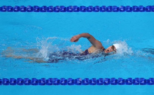 SEA Games 29: Swimmer Anh Vien wins two more gold hinh anh 1