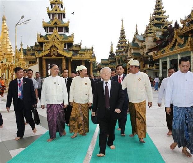 Party chief praises establishment of Myanmar-VN friendship association hinh anh 1