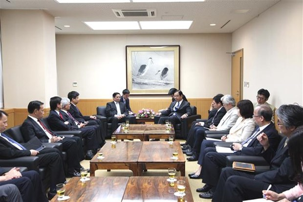 Japanese Communist Party leader welcomes CPV delegation hinh anh 1