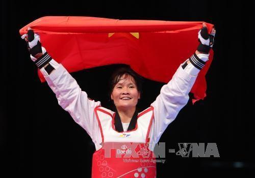 Sea Games 29: Vietnam wins gold in Taekwondo hinh anh 1