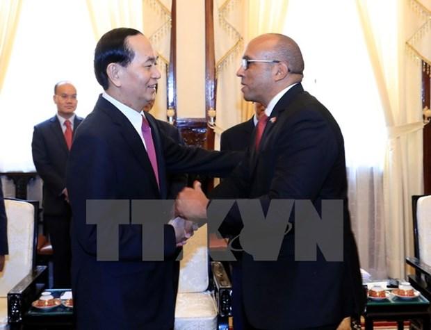 President Tran Dai Quang receives outgoing Cuban ambassador hinh anh 1