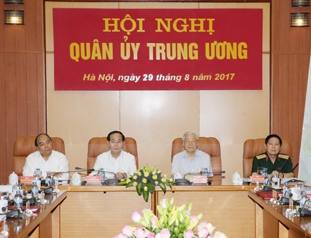 Party chief directs Central Military Commission's conference hinh anh 1