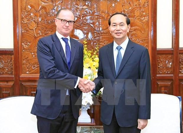 President Tran Dai Quang bids farewell to Austrian Ambassador hinh anh 1