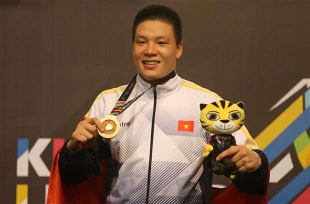 SEA Games 29: Vietnam at third place on August 29 tally hinh anh 1