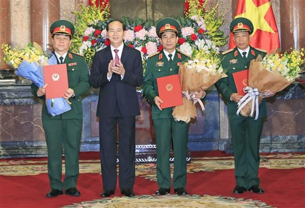 President grants promotion decisions to army officers hinh anh 1