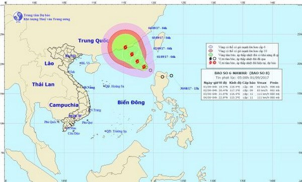Two storms, low pressures forecast to hit Vietnam in September hinh anh 1