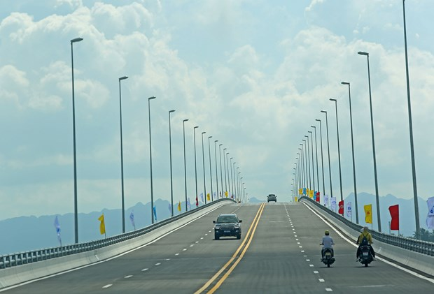 One of longest sea bridges in Southeast Asia opens in Hai Phong hinh anh 1