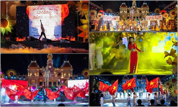 HCM City hosts art performance marking National Day hinh anh 1