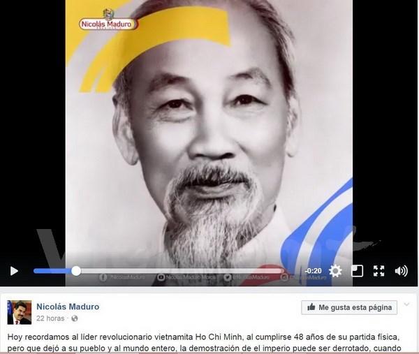 Venezuelan leader praises late President Ho Chi Minh hinh anh 1