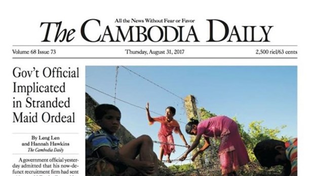 The Cambodia Daily ceases publication hinh anh 1