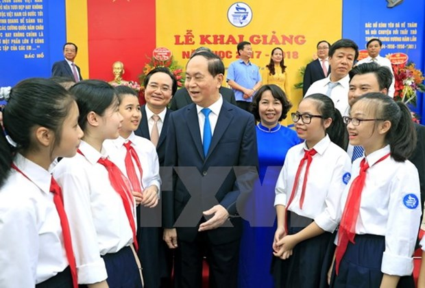 President affirms importance of education at school year's beginning hinh anh 1