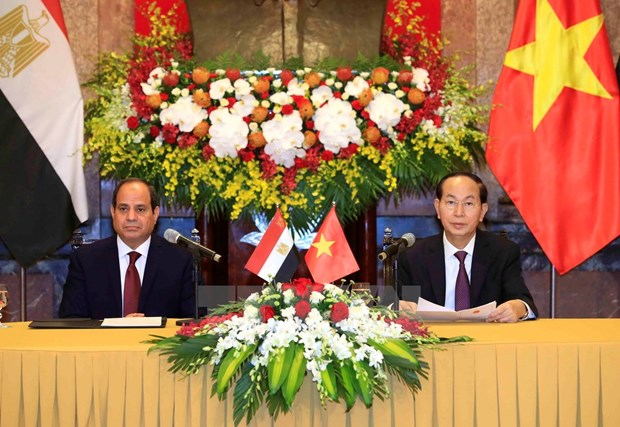 Vietnamese, Egyptian Presidents seek stronger cooperation hinh anh 1