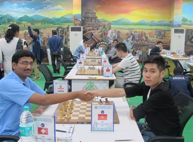 Vietnamese player wins Malaysian chess champs hinh anh 1
