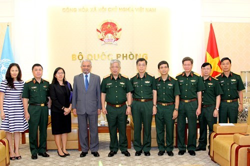 Vietnam's contributions to peacekeeping operations appreciated hinh anh 1