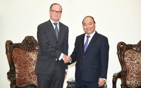PM Nguyen Xuan Phuc receives outgoing Austrian Ambassador hinh anh 1