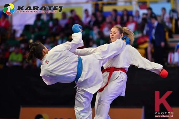 Vietnamese athlete wins gold at world karate league hinh anh 1