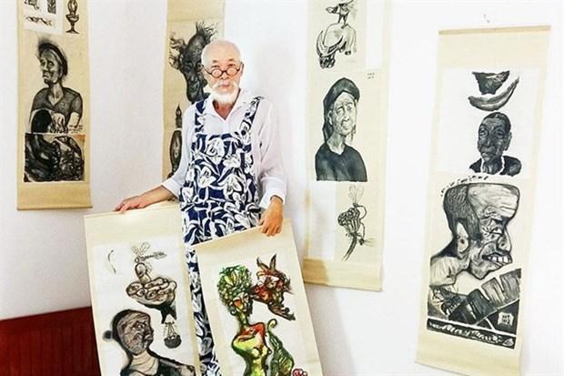 Artist portrays Vietnamese, Dutch farmers hinh anh 1
