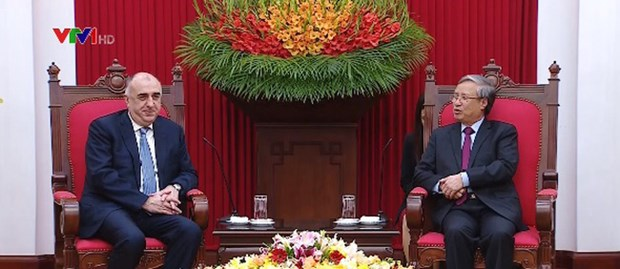 Party official receives Azerbaijani Foreign Minister hinh anh 1